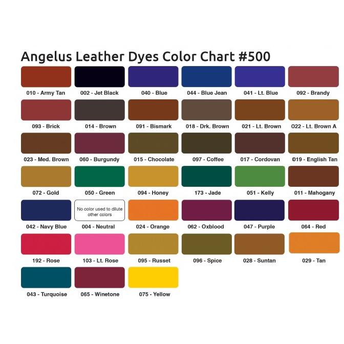 Angelus Farbkarte Dye