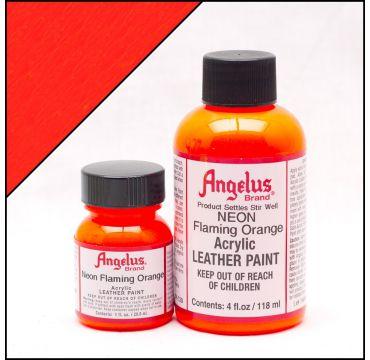 Angelus Lederfarbe Feuer Orange