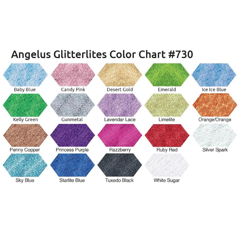 Angelus Glitterlites Farbkarte