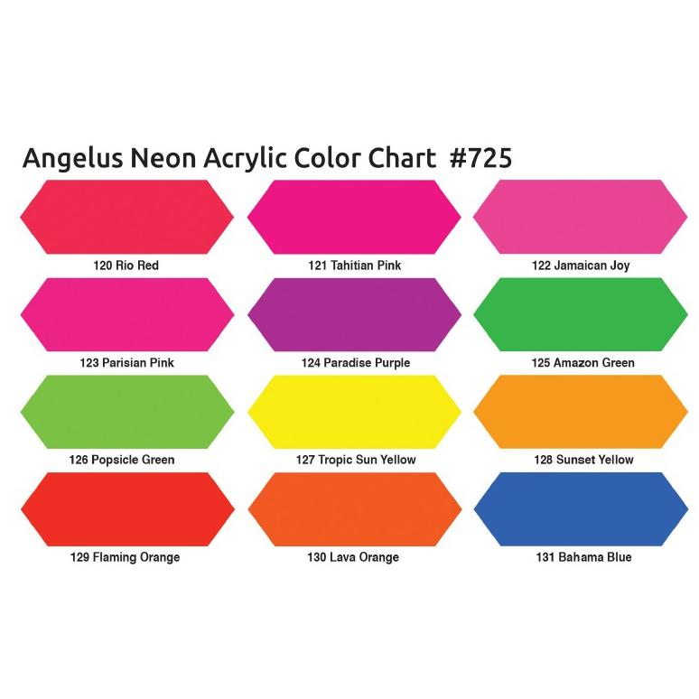 Angelus Neon Farbkarte